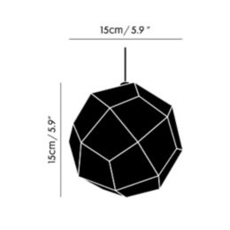 Tom Dixon Etch Mini Pendant Light in Brass - image-5