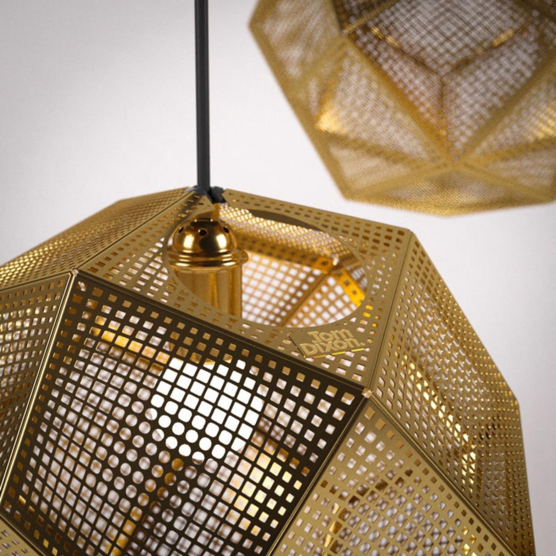 Tom Dixon Etch Mini Pendant Light in Brass - image-7