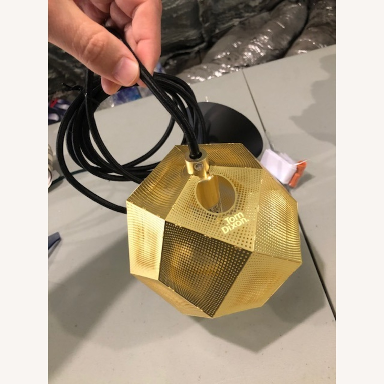Tom Dixon Etch Mini Pendant Light in Brass - image-6