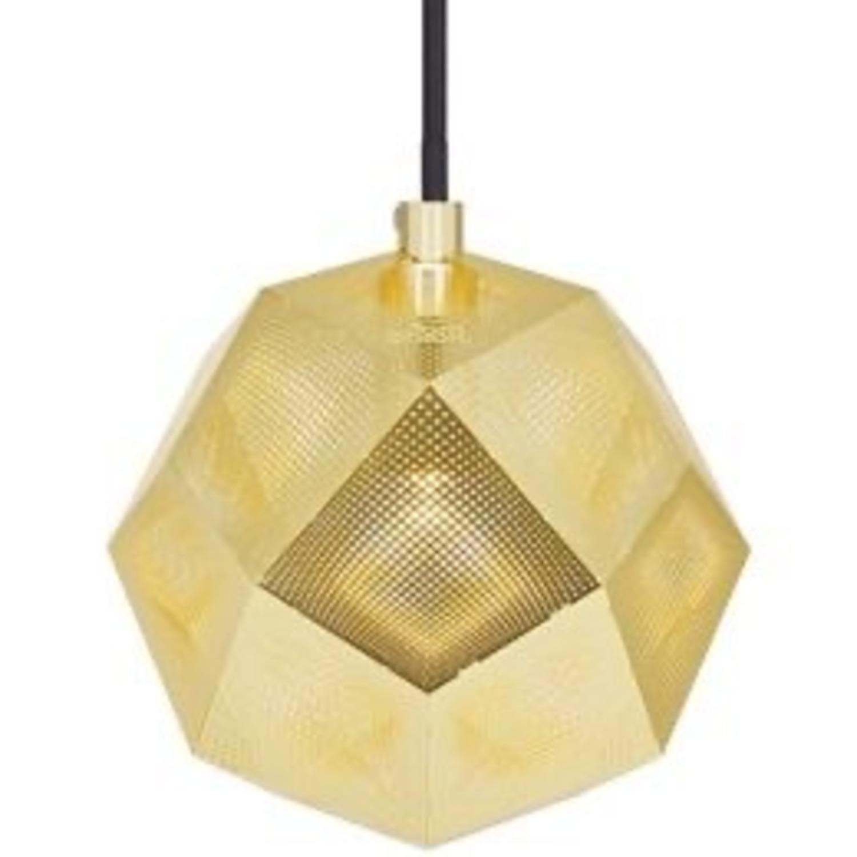 Tom Dixon Etch Mini Pendant Light in Brass - image-0