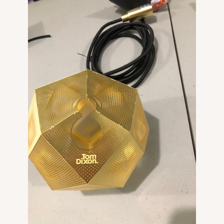Tom Dixon Etch Mini Pendant Light in Brass - image-1