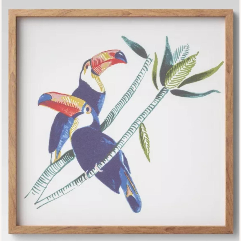Target Framed Toucan Canvas - image-1