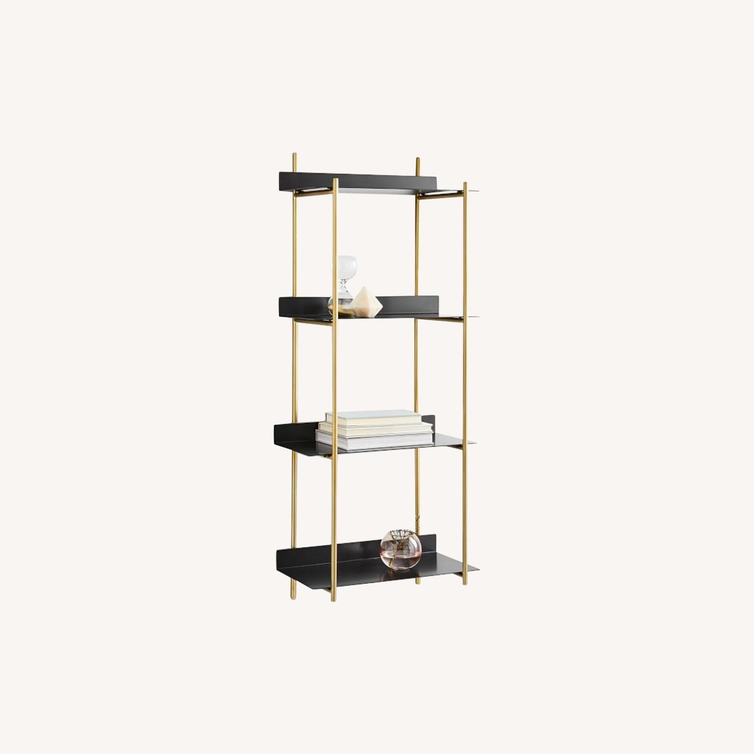 West Elm Floating Lines 4-Tiered Wall Shelf - image-0
