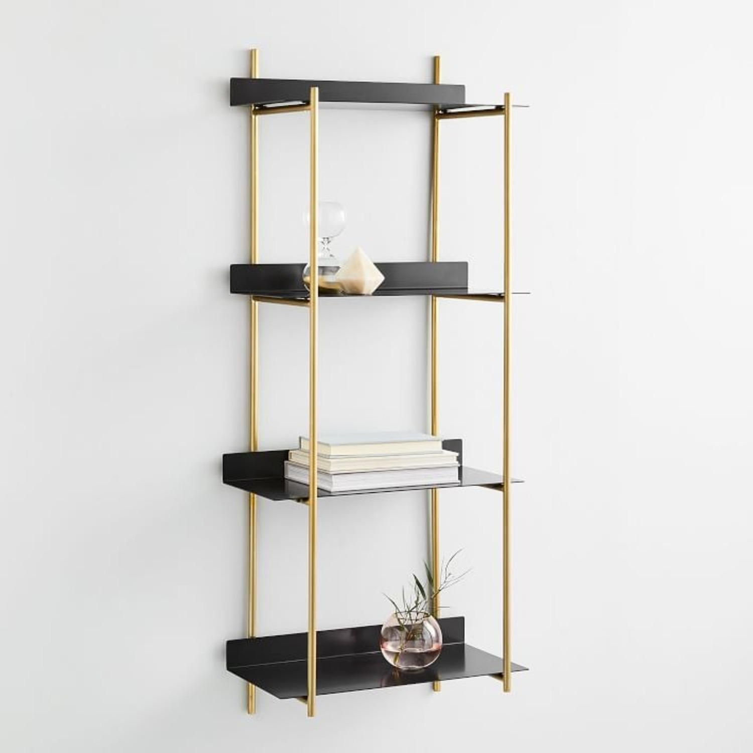 West Elm Floating Lines 4-Tiered Wall Shelf - image-1