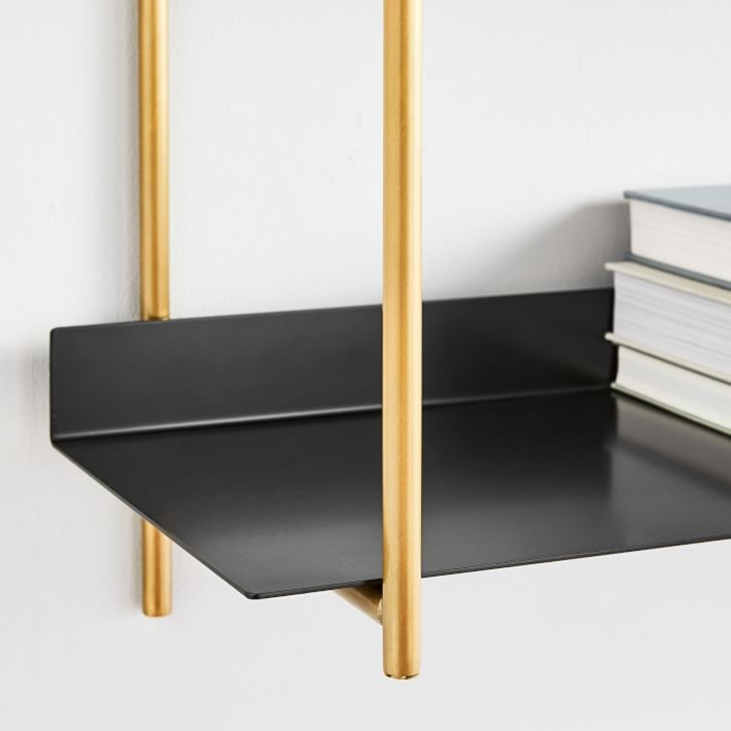 West Elm Floating Lines 2- Tiered Wall Shelf - image-2