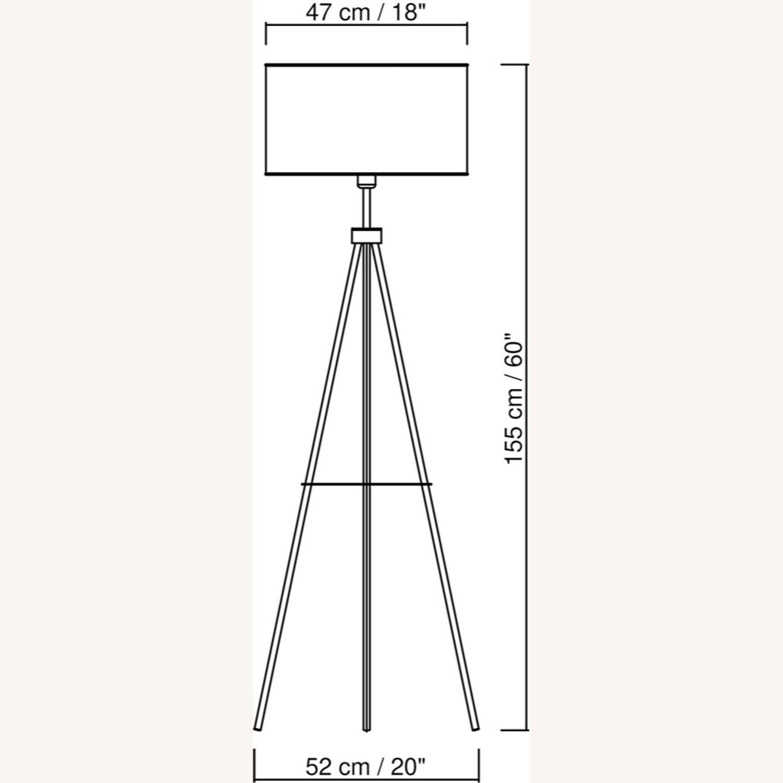 Floor Lamp - Cream Color with Brass Metal - image-4