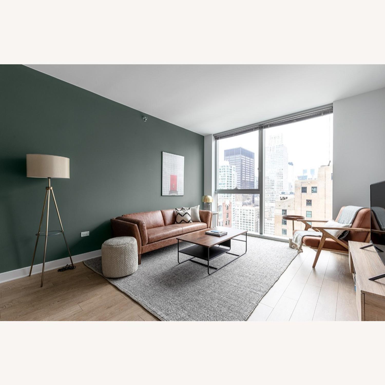 Floor Lamp - Cream Color with Brass Metal - image-2