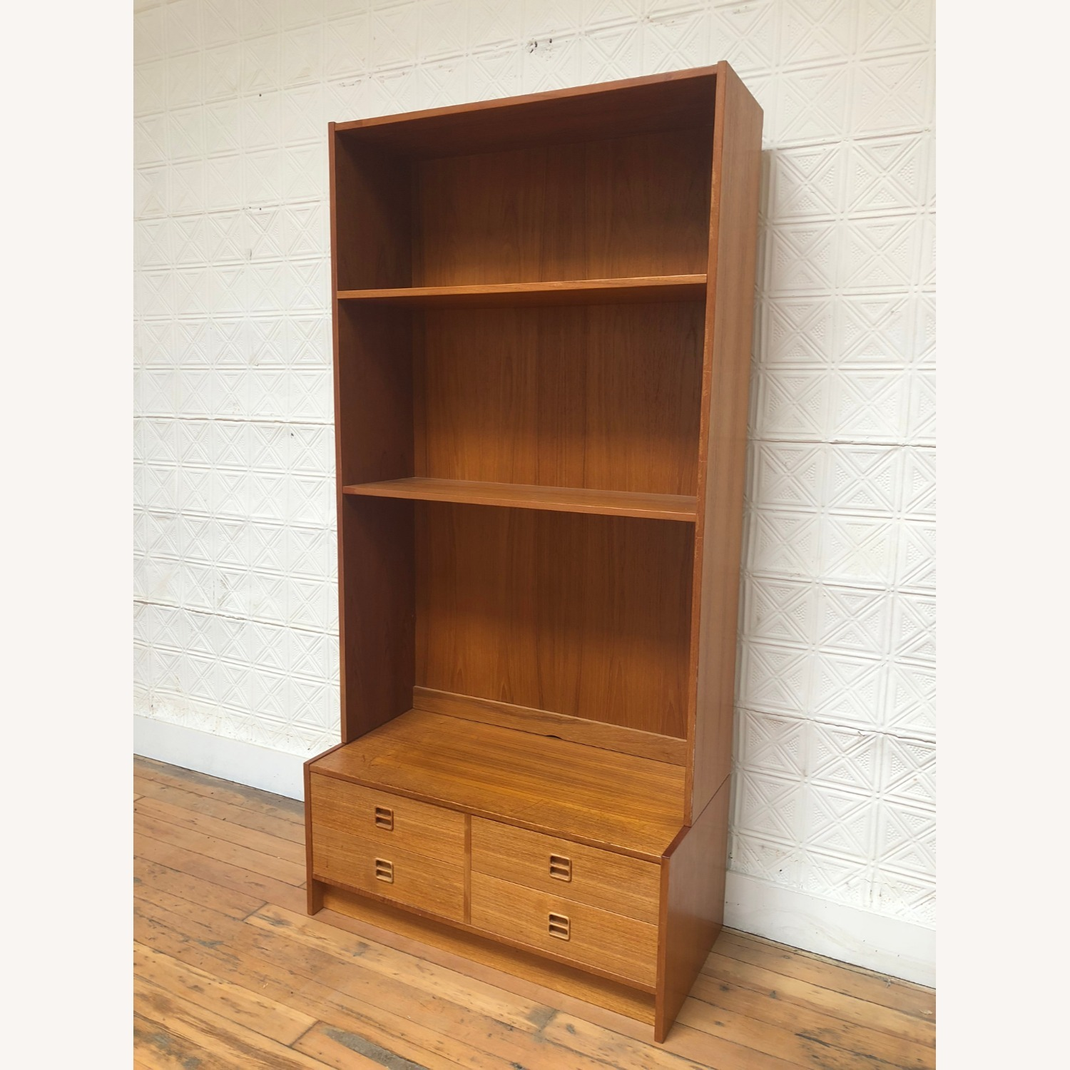 Danish Modern Shelving Unit with Four Drawers - image-3