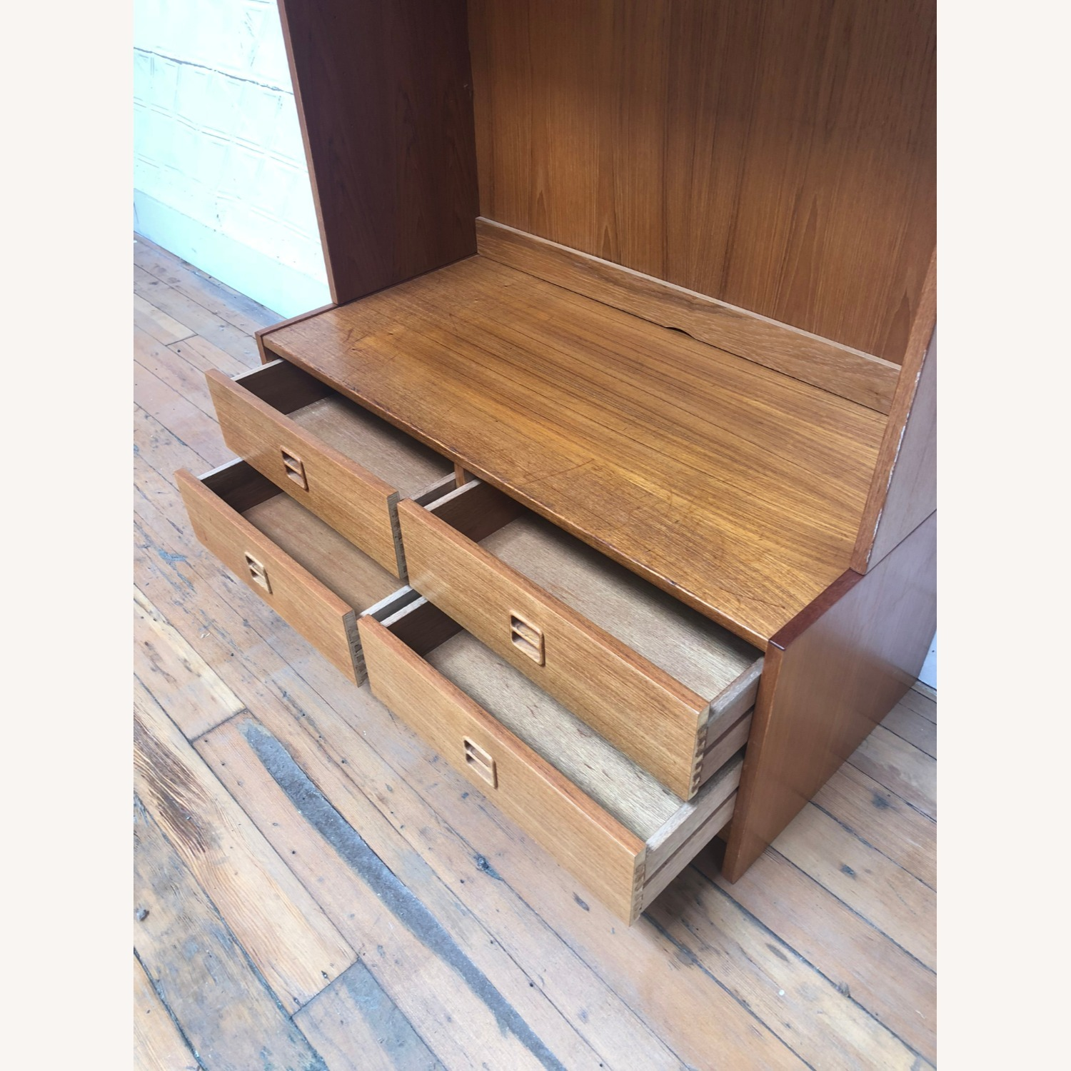 Danish Modern Shelving Unit with Four Drawers - image-8
