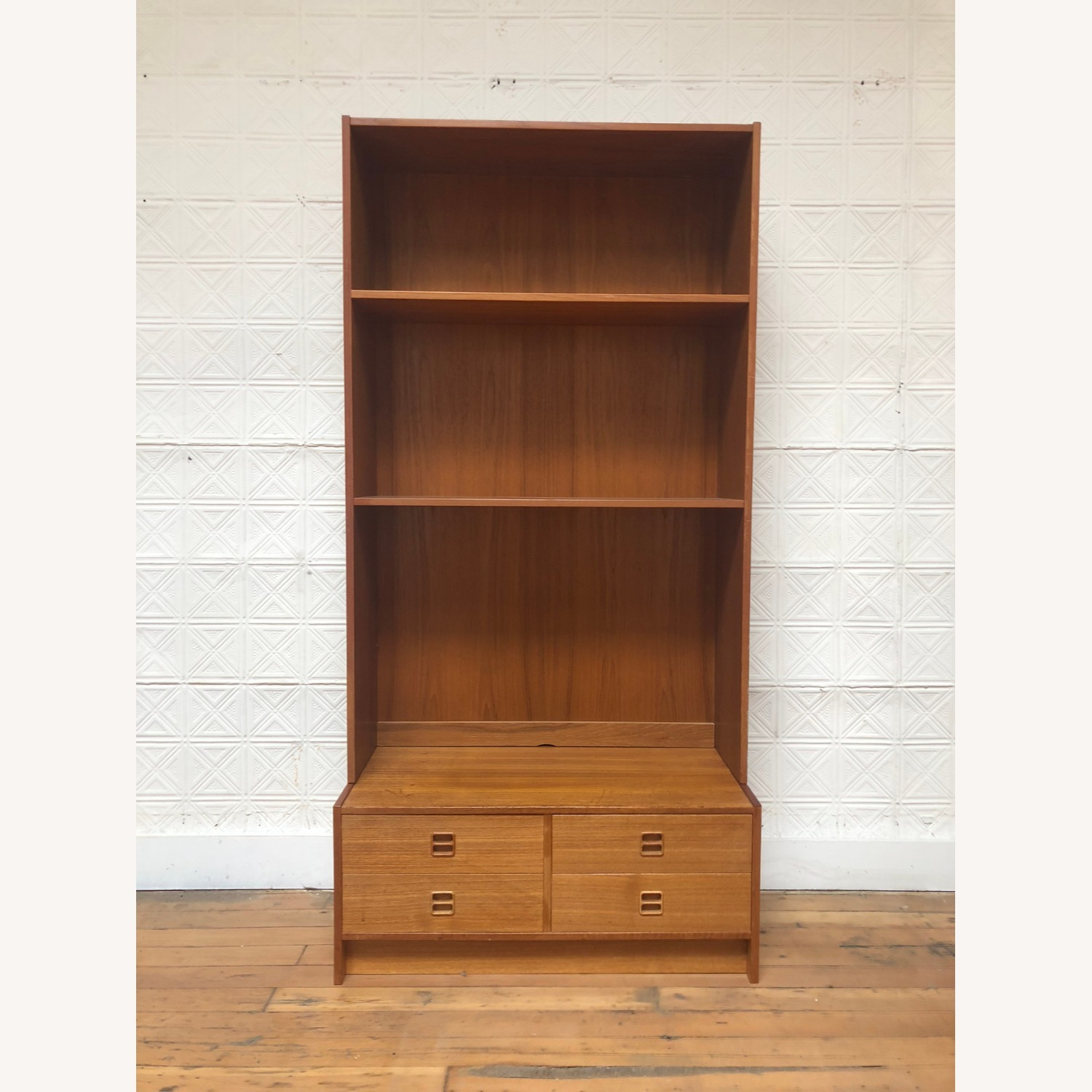 Danish Modern Shelving Unit with Four Drawers - image-2