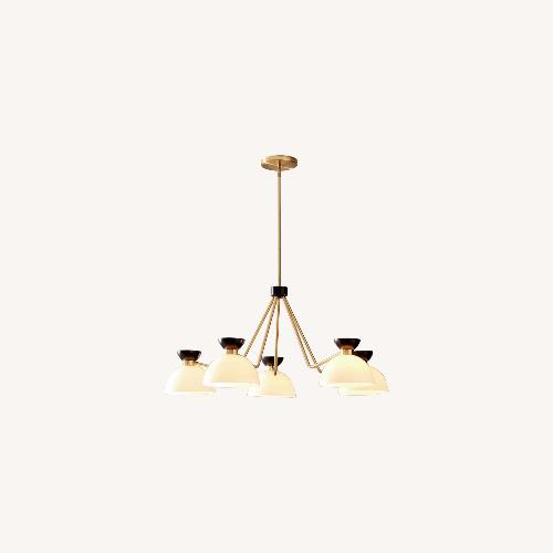 Used West Elm Hourglass 5LT Chandelier for sale on AptDeco