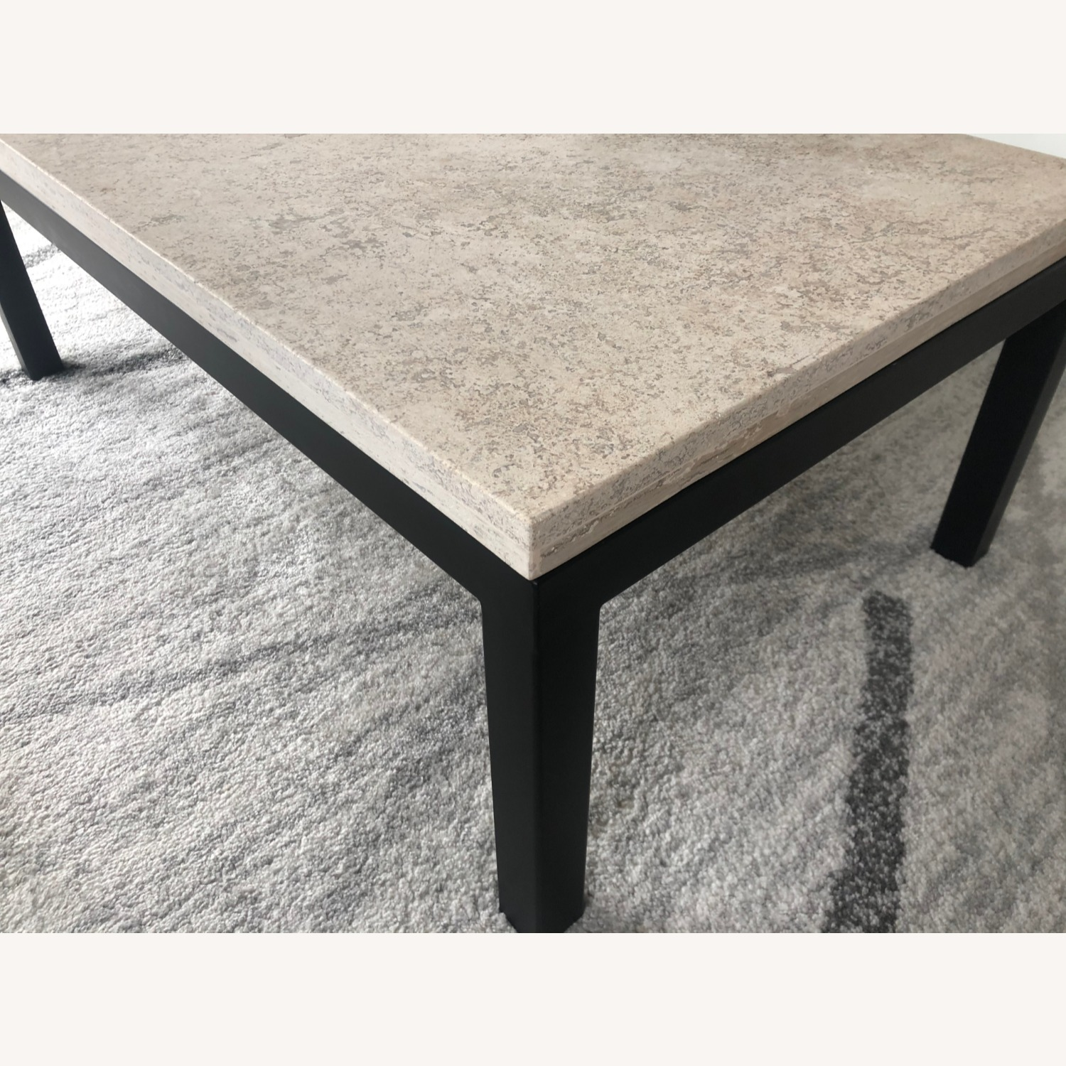 Crate & Barrel Natural Color Modern Coffee Table - image-3