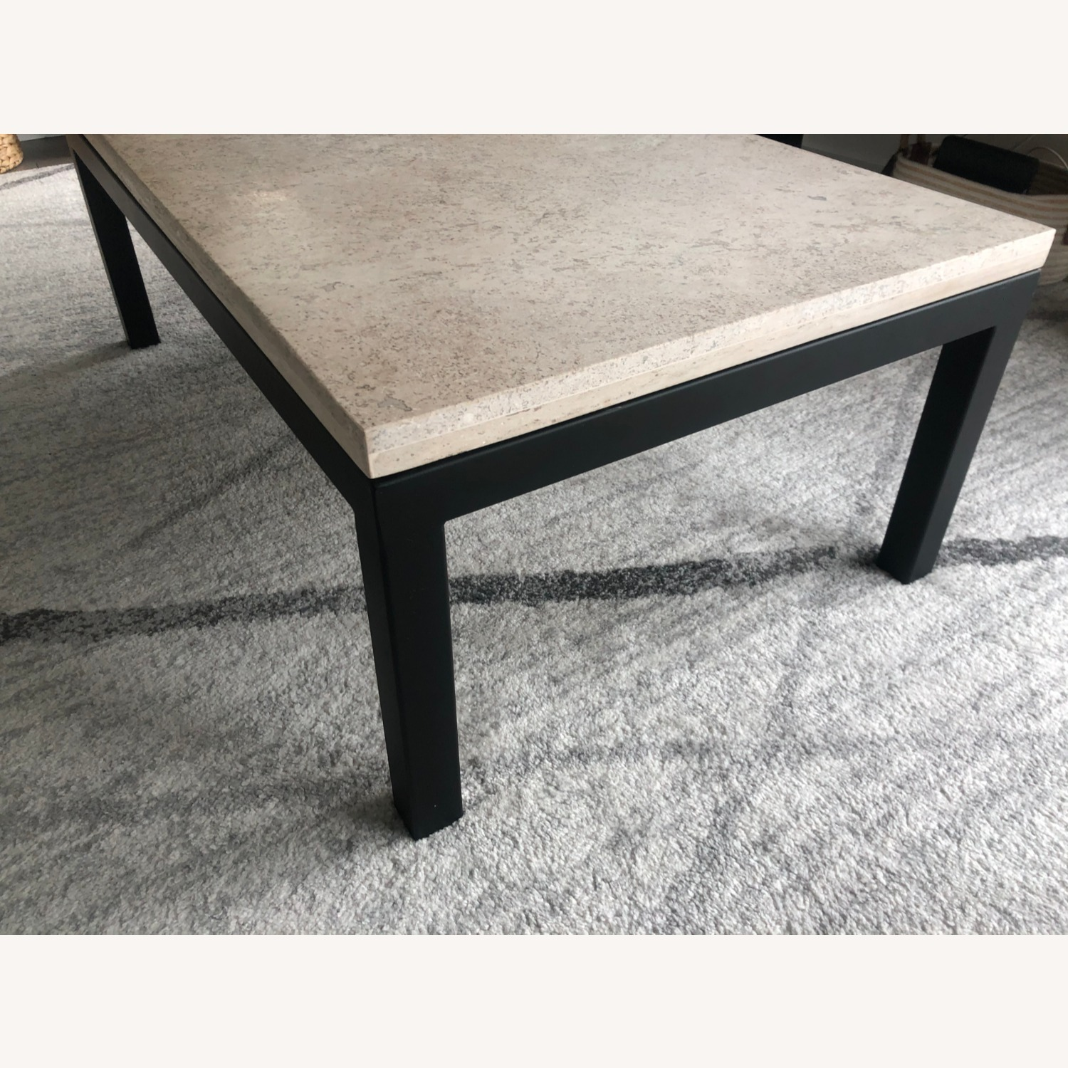 Crate & Barrel Natural Color Modern Coffee Table - image-2