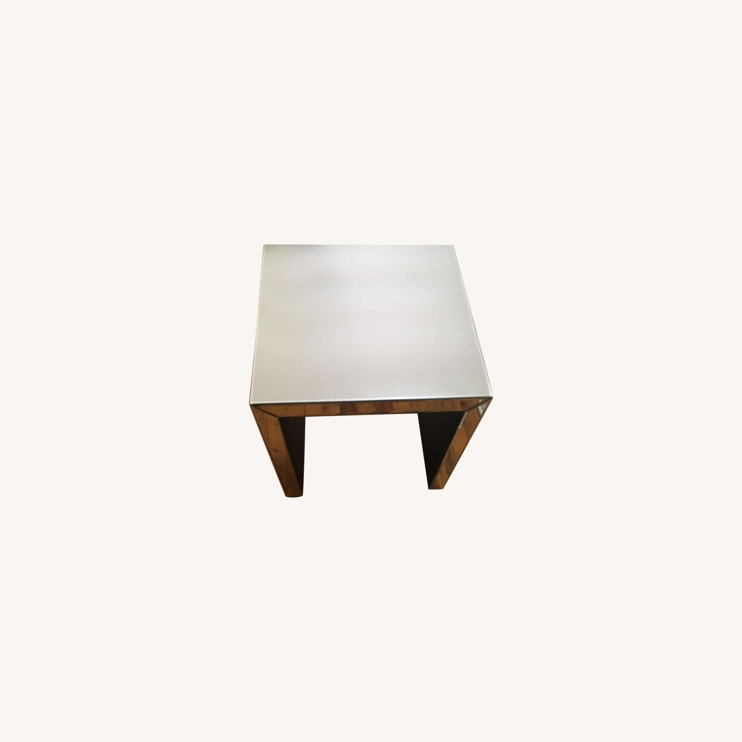 Target Mirrored Side Table - image-0