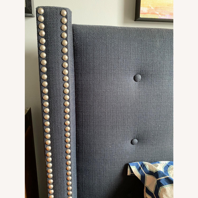 Wayfair Wingback upholstered bed - image-3