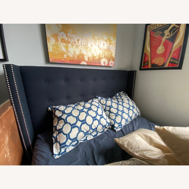 Wayfair Wingback upholstered bed - image-1