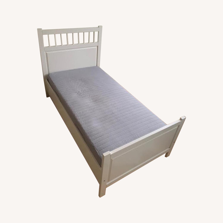 Ikea White Hemnes Twin Bed Aptdeco