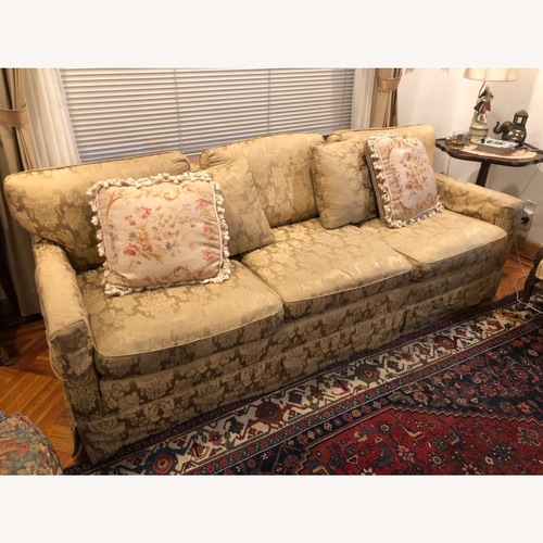 Used Henredon Damask Tone on Tone Sofa for sale on AptDeco