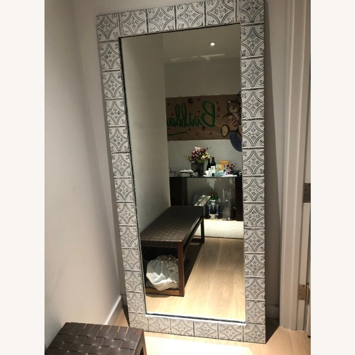 Used Olde Good Things White Tin Full Length Mirror for sale on AptDeco