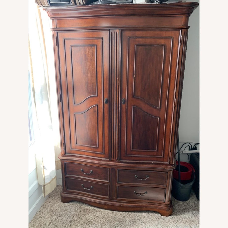 Macy's Wooden Armoire/Wardrobe Closet - image-1