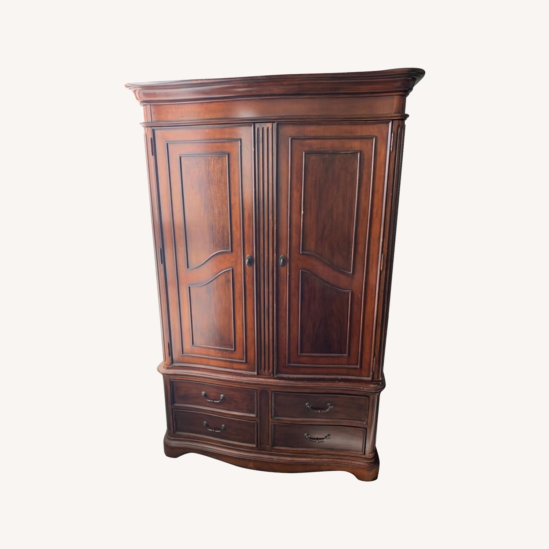 Macy's Wooden Armoire/Wardrobe Closet - image-0