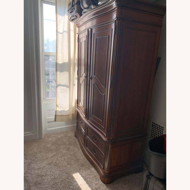 Macy's Wooden Armoire/Wardrobe Closet - image-2