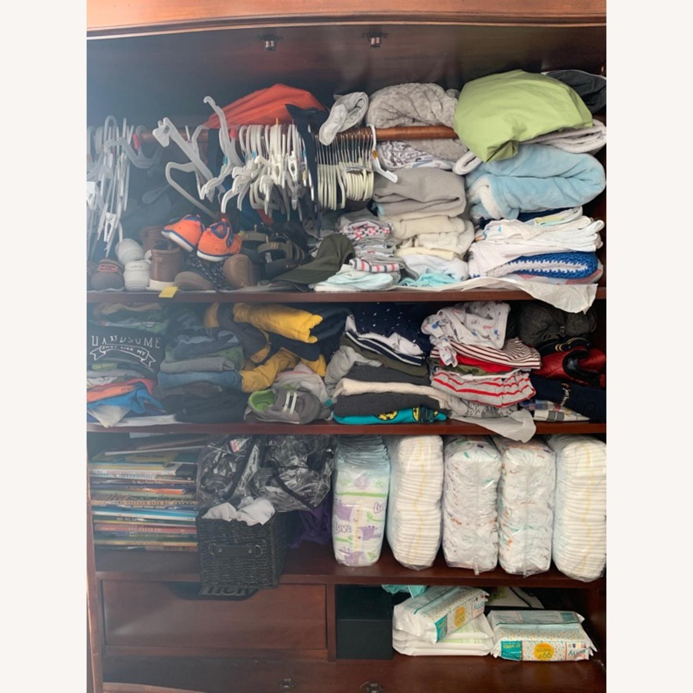 Macy's Wooden Armoire/Wardrobe Closet - image-5
