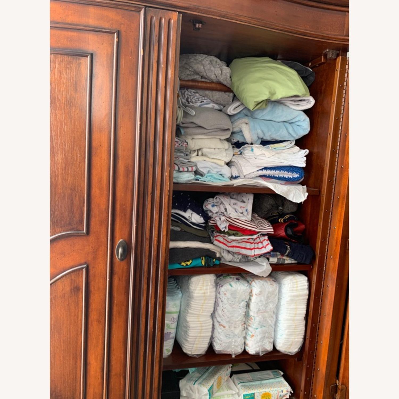 Macy's Wooden Armoire/Wardrobe Closet - image-4
