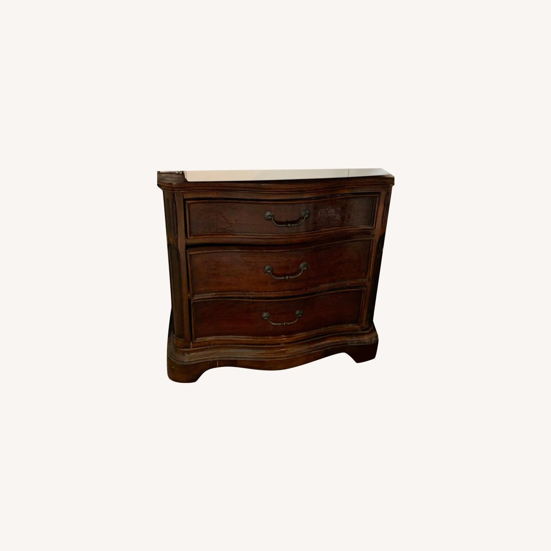 Macy's Wooden Nightstand Table - image-0