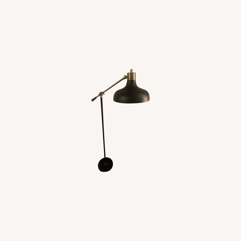 Target Crosby Schoolhouse Floor Lamp Black w/ Gold - image-0