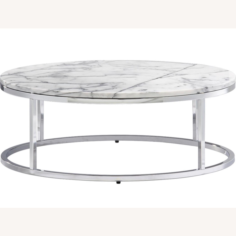 Cb2 Marble Coffee Table Aptdeco
