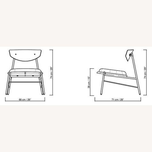 Used Blueground Genuine Leather + Oak Armchair for sale on AptDeco