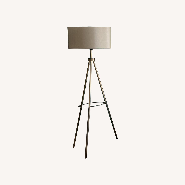 Blueground Floor Lamp Shade Brass Body - image-0