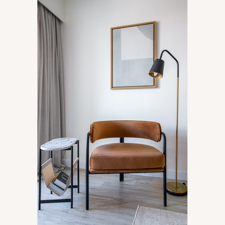 Blueground Floor Lamp Black & Brass - image-4