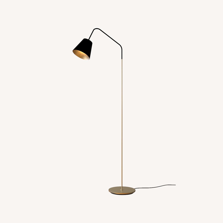 Blueground Floor Lamp Black & Brass - image-0