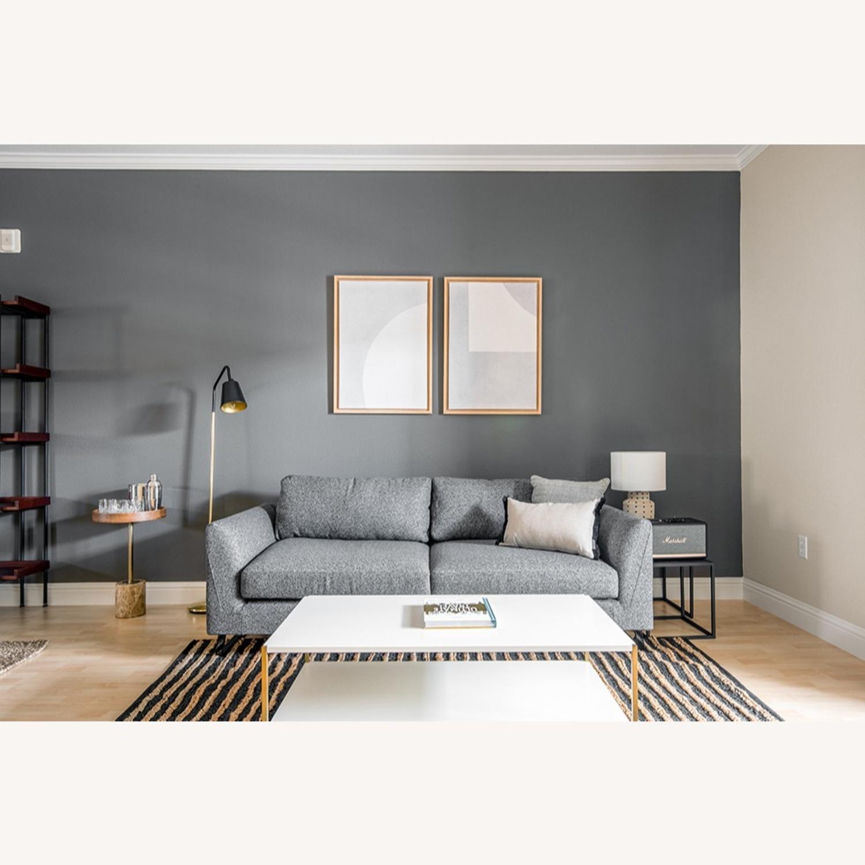 Blueground Floor Lamp Black & Brass - image-5
