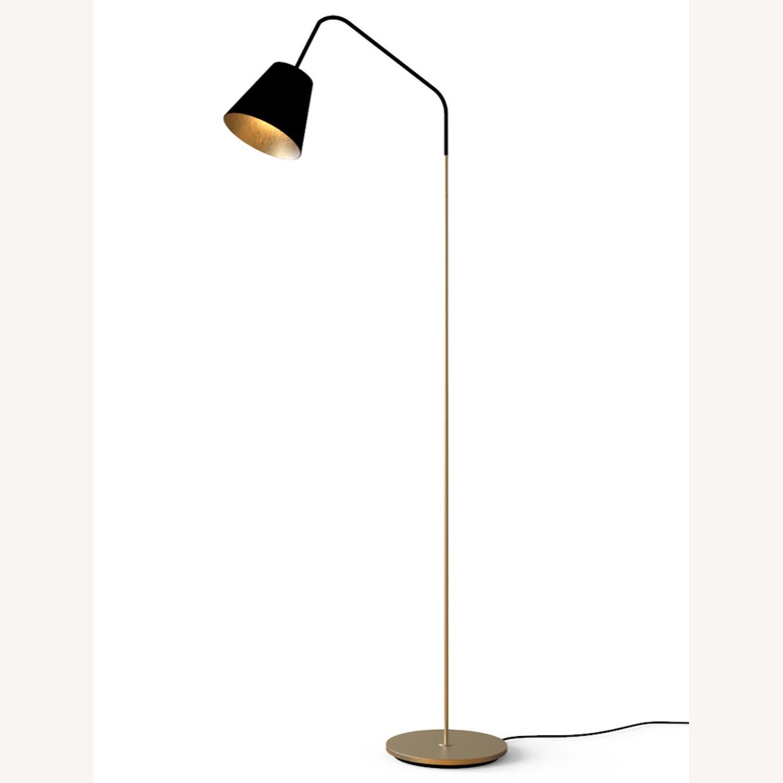 Blueground Floor Lamp Black & Brass - image-1