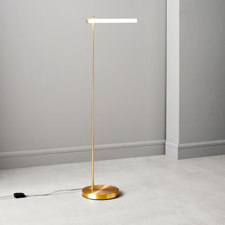 West Elm Light Rods LED Reader Floor Lamp - image-1