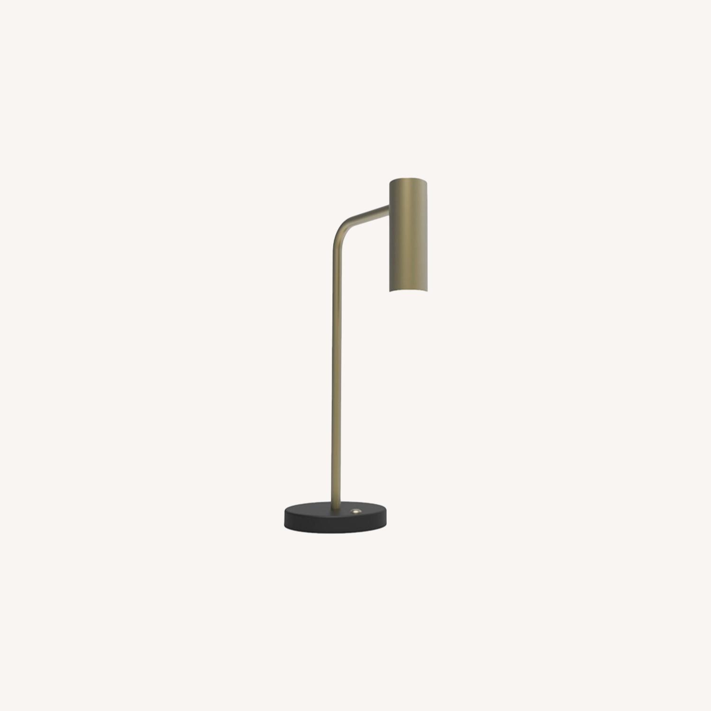 Blueground Table Lamp Brass Head Black Body - image-0