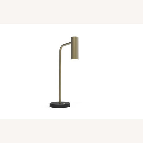 Used Blueground Table Lamp Brass Head Black Body for sale on AptDeco