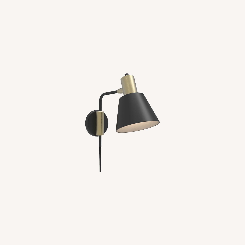 Blueground Sconce Bedside Lamp Bronze Black - image-0