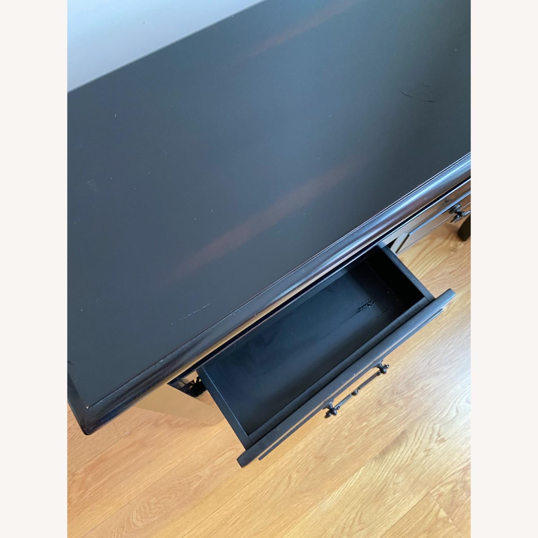 Pier 1 Black Wood Console Table - image-4