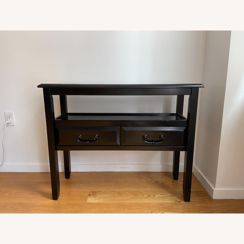 Pier 1 Black Wood Console Table - image-2