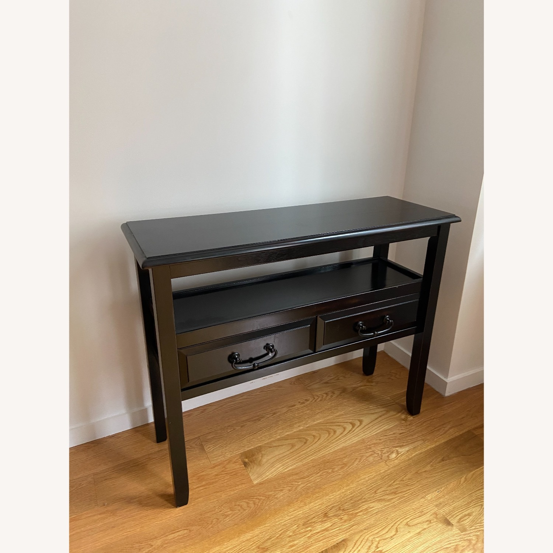 Pier 1 Black Wood Console Table - image-5