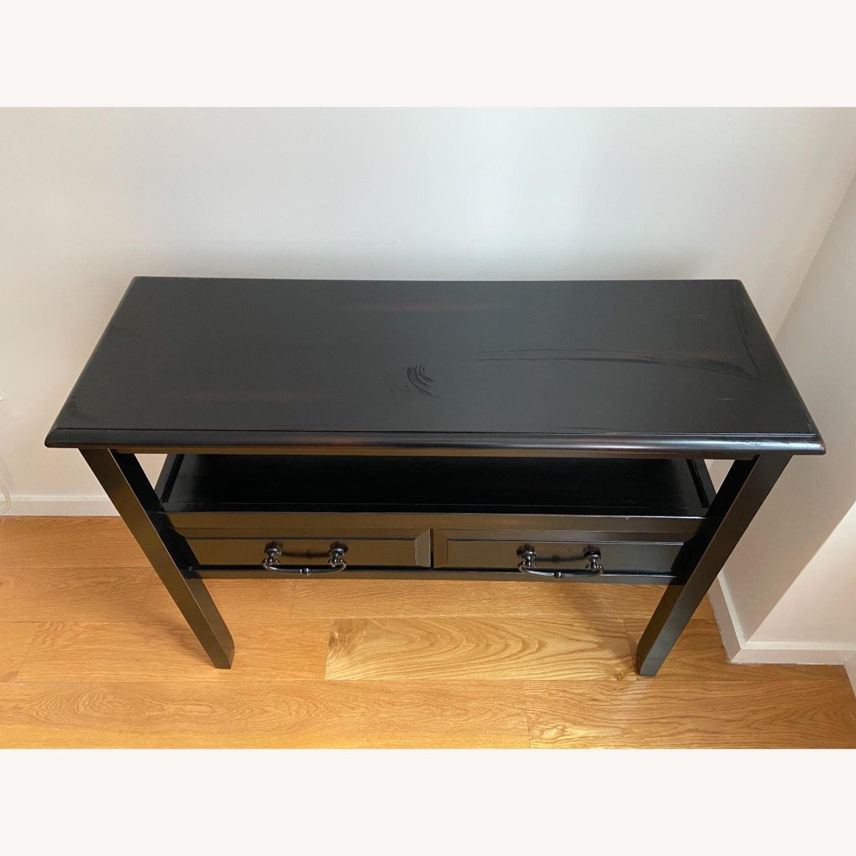 Pier 1 Black Wood Console Table - image-3