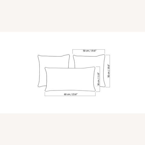 Used Blueground Pillows Sofa Line Set of 3 for sale on AptDeco