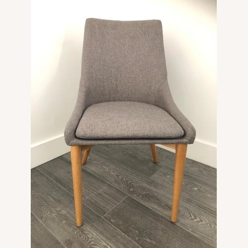 Used Mercury Row Upholstered Dining Chairs Set of (6) for sale on AptDeco