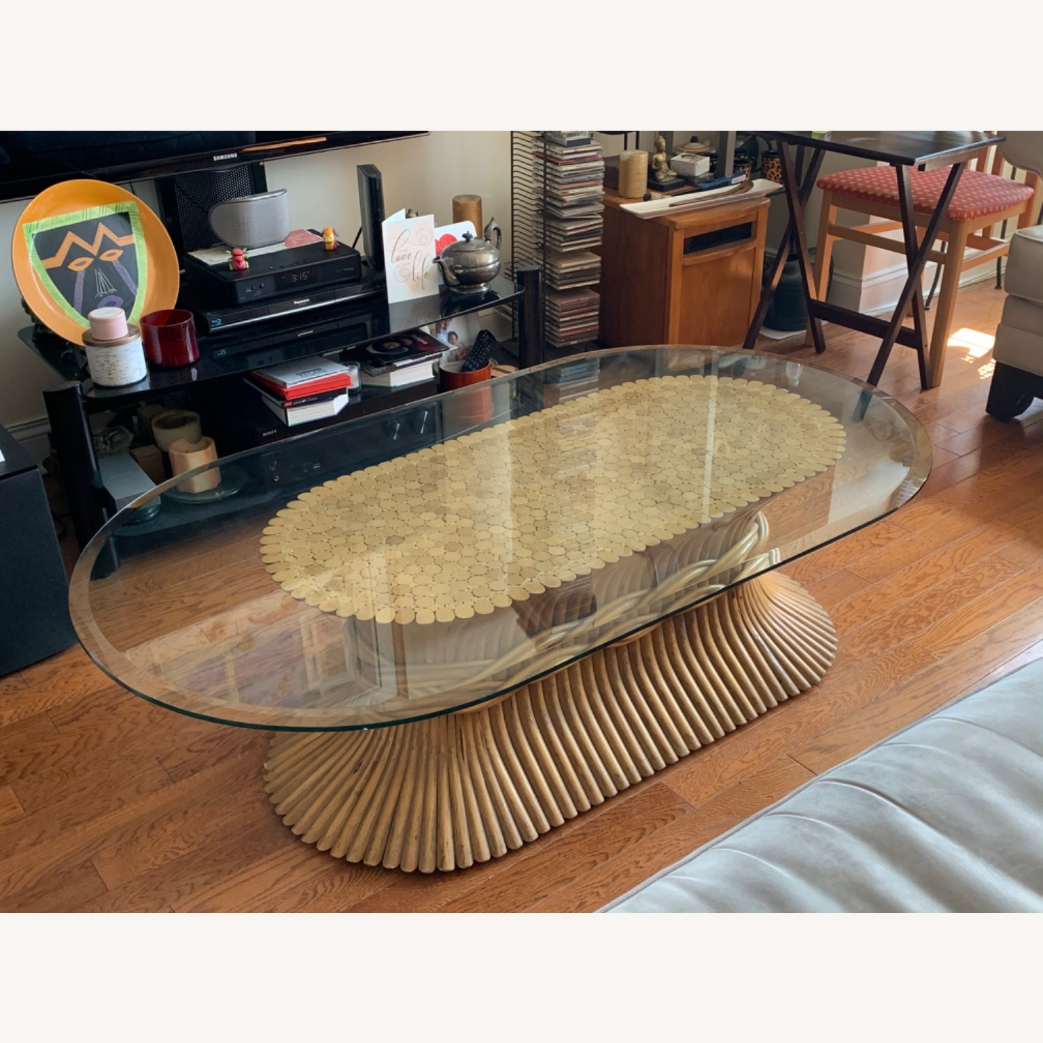 Vintage Bamboo Coffee Table - image-2