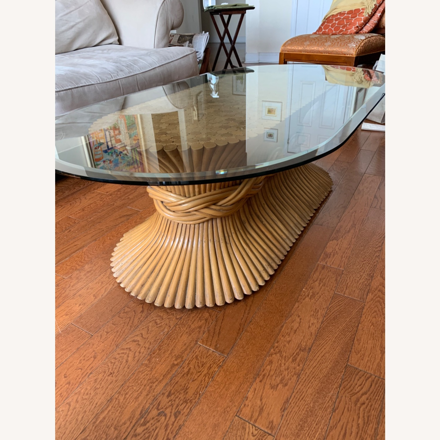 Vintage Bamboo Coffee Table - image-3