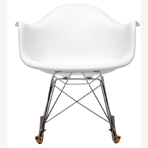 Used Baxton Studio Plastic Rocking White Chair for sale on AptDeco